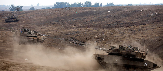 Tanques Israelies en el Golan